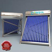 solar collector 3d model