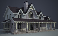 house place 3d obj