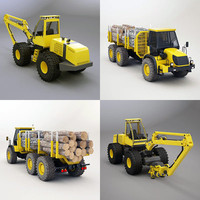 articulated timber timberjack 3d 3ds