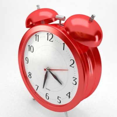 3d model red alarm clock: www.turbosquid.com/3d-models/3d-model-red-alarm-clock/481760