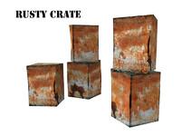 3d rusty crate model