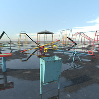 3d max russian children s playground