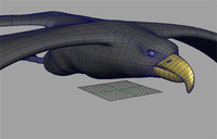 maya eagle rigged