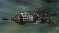 retro ship lasers 3d lwo