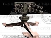 free gatling cannon 3d model