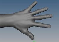 human hand glove 3d obj