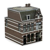 3d dutch historic brick house model