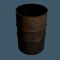 3d model metal barrel