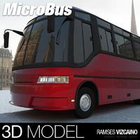 3d urban micro bus