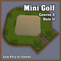 3d mini golf hole model