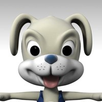 3d puppie cartoon model