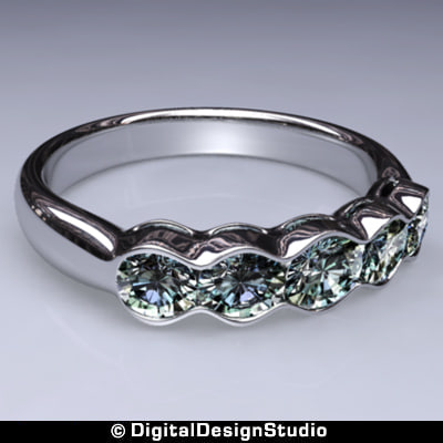 ring diamond 160 3d obj - Diamond Ring 160... by digitaldesignstudio