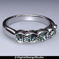 ring diamond 160 3d obj