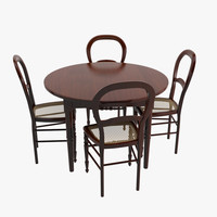 Antique Table And 4 Chairs