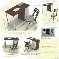3d model table versatile japanes style