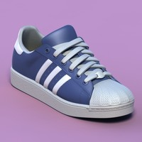 3ds max excellent blue sports shoes