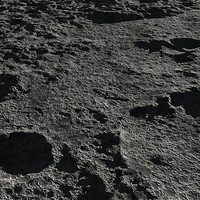 surface craters 3d model