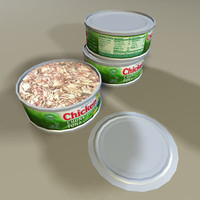 3dsmax tuna fish 01 cans