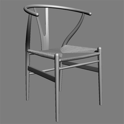 3d wegners y chair. Black Bedroom Furniture Sets. Home Design Ideas