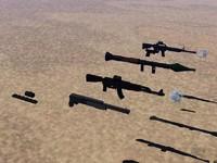 3d 3ds soldier guns