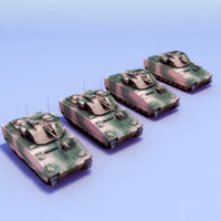cv9030 ifv fighting vehicle 3d model