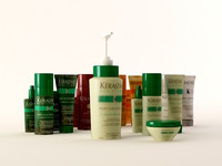 cosmetics bottles 3d model