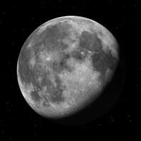 moon distance 3d model