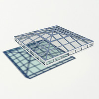 3d model pyramidal broach roof rooflight