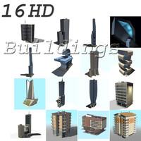 3d building houses
