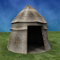 3d max stone age house