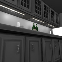 indoor kitchen cabnets 3d model