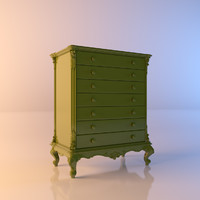 3d model green cabinet