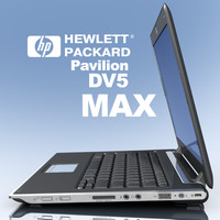 3d model notebook hp pavilion dv2