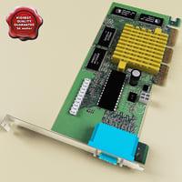 3d model video card