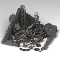 max ruined sci-fi building