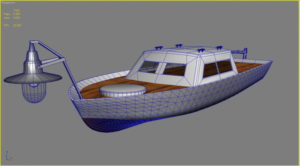 3ds max light boat - Light boat... by ragusa