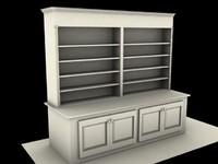 bookshelf shelves 3d max