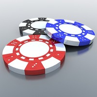 3d model gambling chips
