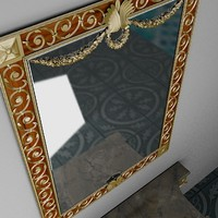 3d model of mirror waiting table