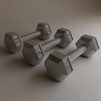 dumbbell dumb bell 3d model