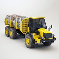 articulated timber transporter 3d 3ds
