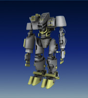 robot rigged 3d max