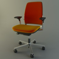 3d modern office chair model