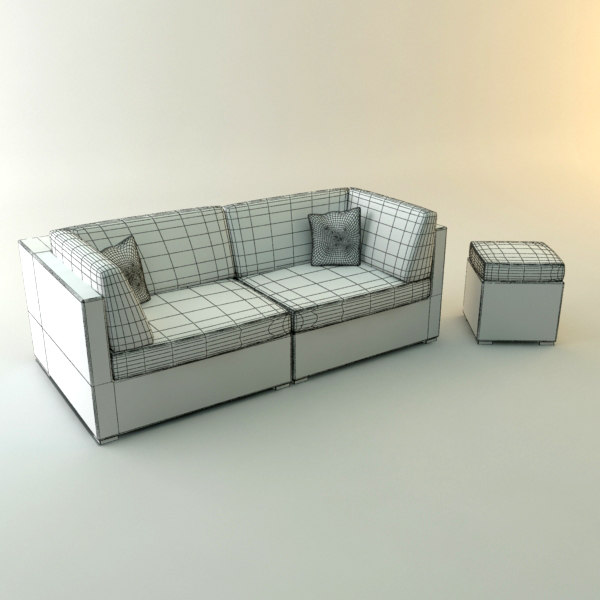 3d design couch lounger set