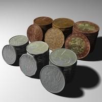 3d czech coins model