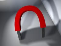 obj horseshoe magnet