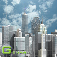 3ds max newyork skyscrapers new york