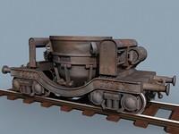 3d slag ladle car model