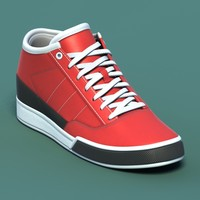 Sports shoes #03 red white