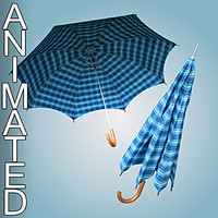 3d model umbrella animation